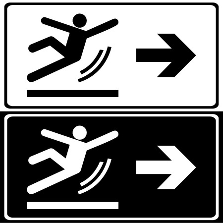 slippery floor: Vector Wet Floor Warning Sign Illustration  Illustration