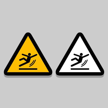 wet floor sign: Vector Wet Floor Warning Sign Illustration