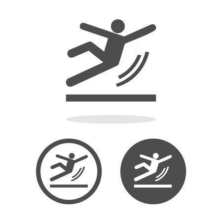 slippery warning symbol: Vector Wet Floor Warning Sign Illustration