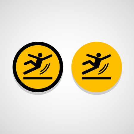 Vector Wet Floor Warning Sign Illustration Stock Illustratie