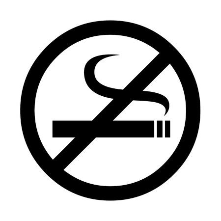 smoldering: Vector no smoking sign, Illustration