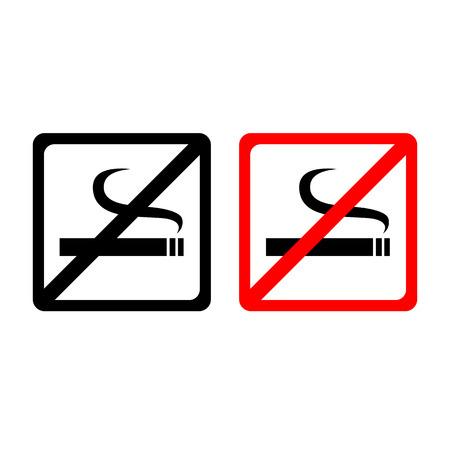no smoking sign: Vector no smoking sign, Illustration