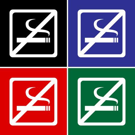 pernicious habit: Vector no smoking sign, Illustration
