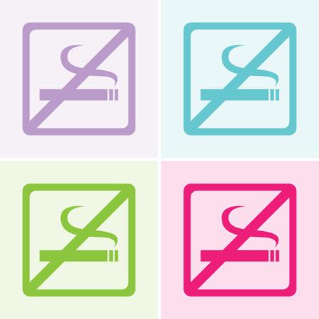 smoldering: Vettore nessun segno di fumare, Illustrazione Vettoriali