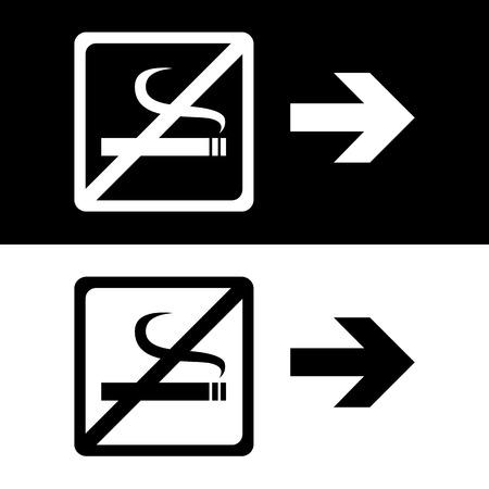 pernicious: Vector se�al de no fumar, Ilustraci�n