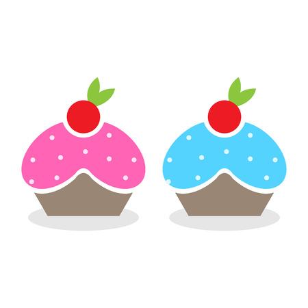 cupcake illustration: Vector cupcake icon, Illustration