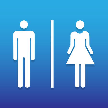 toilet sign: Vector a man and a lady toilet sign, Illustration EPS10