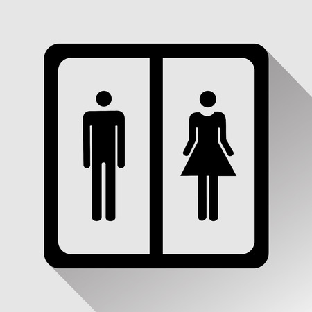 loo: Vector a man and a lady toilet sign, Illustration EPS10