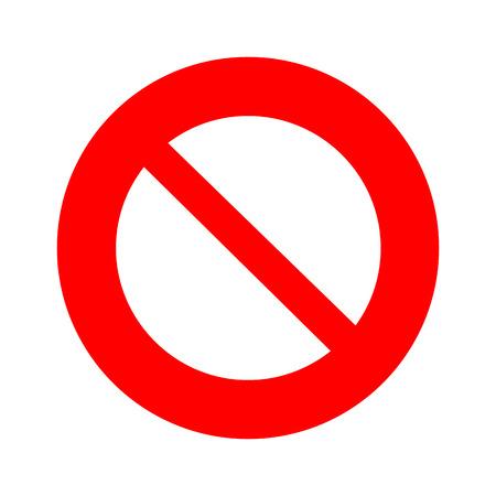 Vector kein Zeichen, Illustration EPS10 Standard-Bild - 42311197