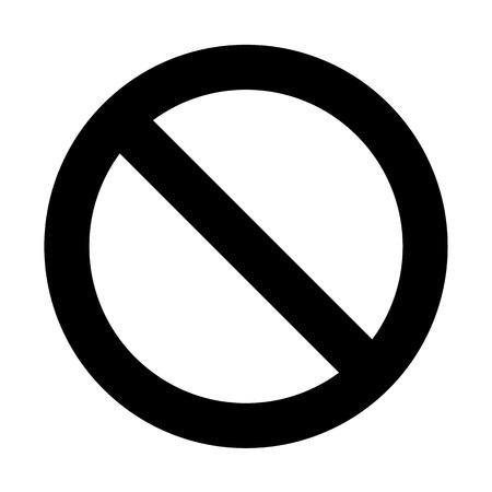 hazard sign: Vector no sign, Illustration EPS10