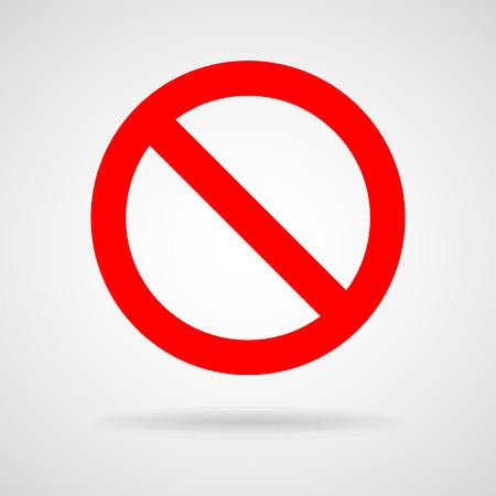 Vector geen teken, Illustratie EPS10