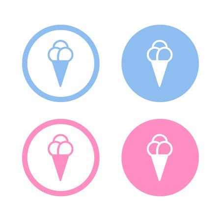 helados con palito: Vector helado icono, Ilustraci�n EPS10