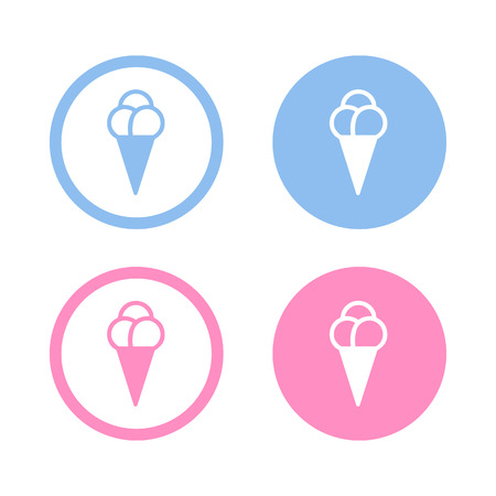 soft serve ice cream: Vector ice cream icon, Illustration EPS10