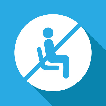 Vector no sitting sign and symbol, Illustration EPS10