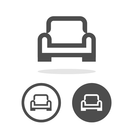 interior decoration: Vector armchair vector icon, Illustration EPS10 Illustration