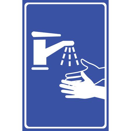 Vector please wash your hands sign, Illustration EPS10