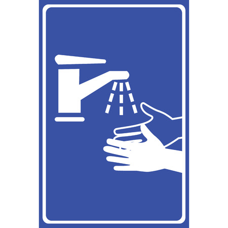 fecal: Vector please wash your hands sign, Illustration EPS10