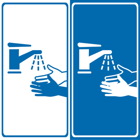 please wash your hands icon: Vector please wash your hands sign, Illustration EPS10