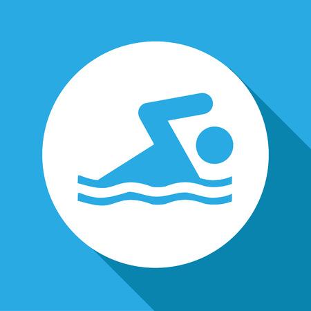 pool: Vector swim icon, Illustration EPS10