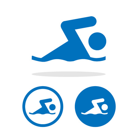 eps10: Vector swim icon, Illustration EPS10