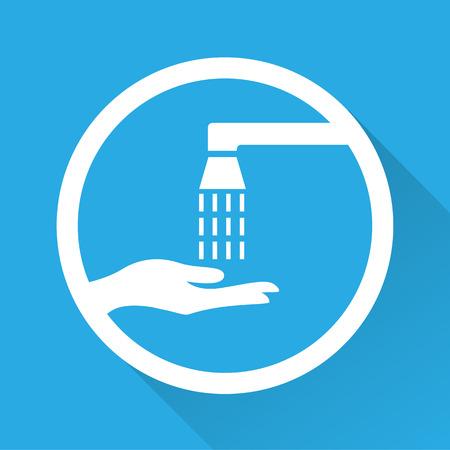 signify: Vector wash your hands sign, Illustration EPS10 Illustration
