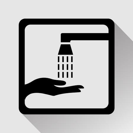 epidemic: Vector wash your hands sign, Illustration EPS10 Illustration
