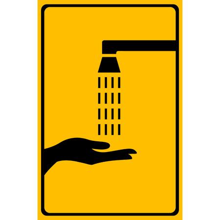 wash: Vector wash your hands sign, Illustration EPS10 Illustration