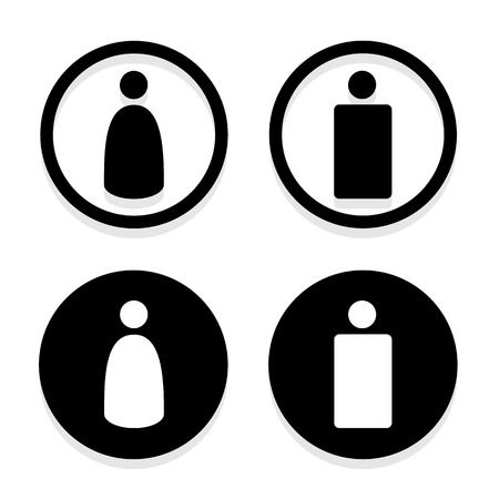 man and women wc sign: Vector a man and a lady toilet sign, Illustration EPS10