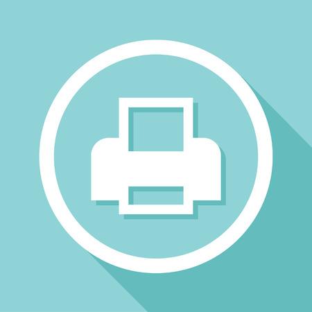 Vector flat printer icon