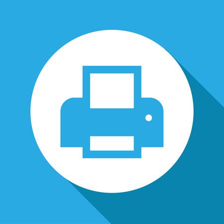 multifunction printer: Vector flat printer icon