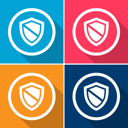 defence: Vector protection icon, Illustration  Illustration