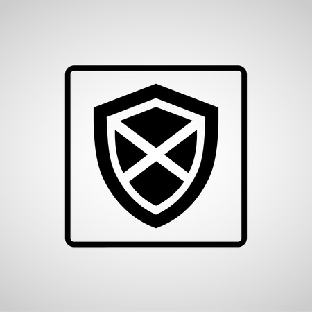 protection icon: Vector protection icon, Illustration  Illustration