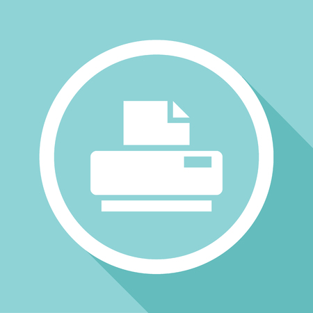 multifunction printer: Vector flat printer icon, Illustration