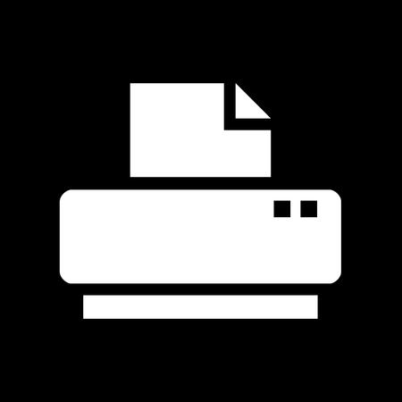 printer icon: Vector flat printer icon, Illustration