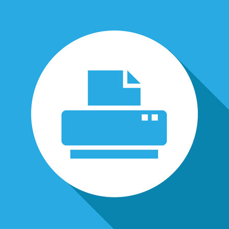 multifunction printer: Vector flat printer icon, Illustration EPS10 Illustration