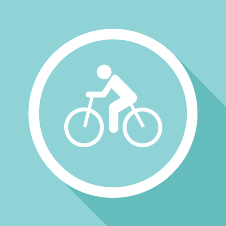 Vector cycling road. Flat bicycle icon or sign, Illustration EPS10 Stock Illustratie