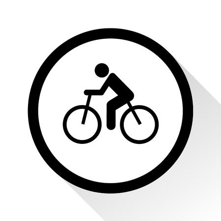 ciclismo: Vector ciclismo de carretera. Icono de la bicicleta plano o signo, ilustración EPS10 Vectores