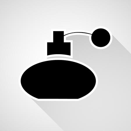eau de perfume: Vector perfume bottle sign or icon, Illustration EPS10