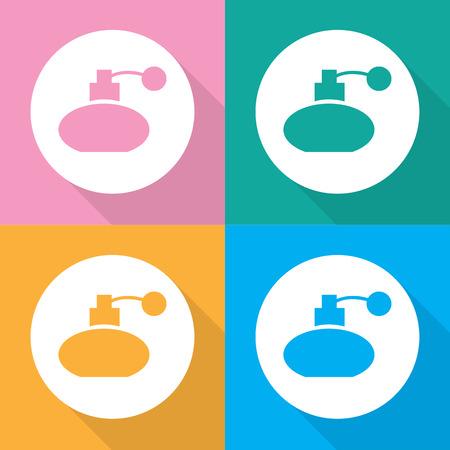 eau de toilette: Vector perfume bottle sign or icon, Illustration EPS10