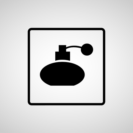 eau: Vector perfume bottle sign or icon, Illustration EPS10