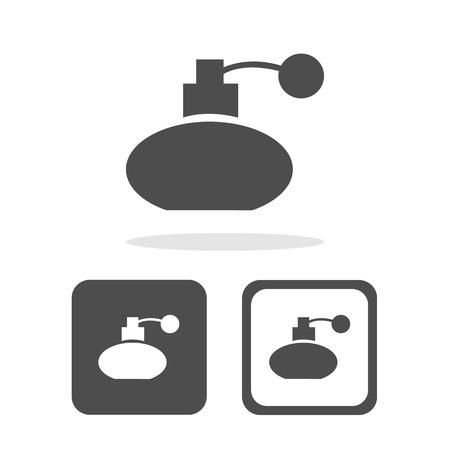 atomizer: Vector perfume bottle sign or icon, Illustration EPS10