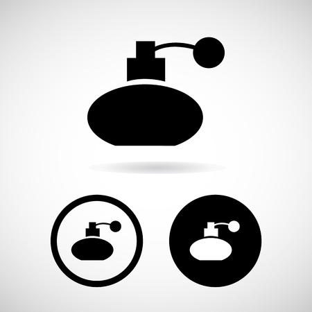 perfume atomizer: Vector perfume bottle sign or icon, Illustration EPS10