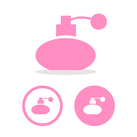 perfume atomizer: Vector perfume bottle sign or icon, Illustration EPS10