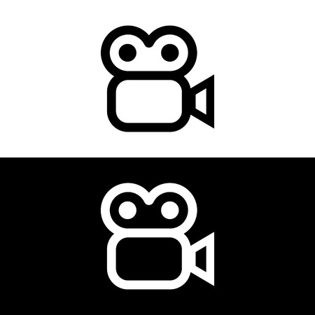 Vector video camera sign or icon, Illustration