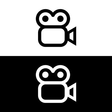 Vector videocamera teken of pictogram, illustratie