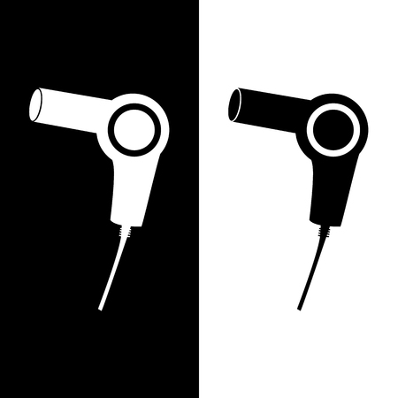 blow dryer: Vector blow dryer, hair dryer sign, Illustration