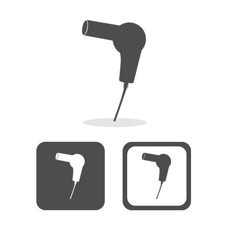 secador de pelo: Vector secador de pelo, signo de secador de pelo, Ilustración Vectores