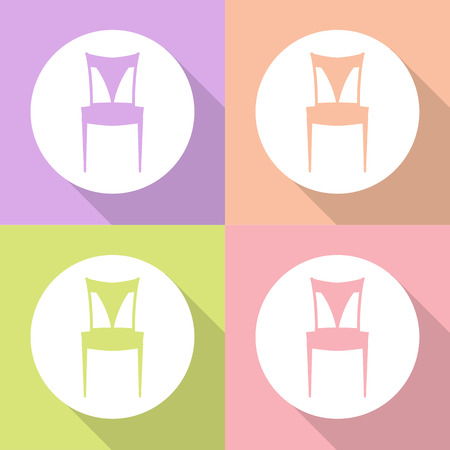 deck chair isolated: Vector chair sign, Illustration EPS10