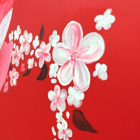 macro nature: Watercolor pink flowers