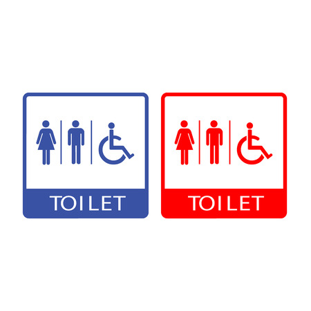 man and women wc sign: Vector man and lady toilet, Illustration